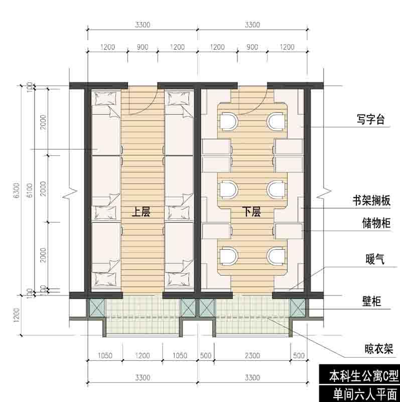 设计图分享 单间长方形房屋设计图 > 20平方单间长形房屋设计图展示图片